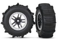 Tires & Wheels, Assembled, Glued Paddle (Sct Split- Black,