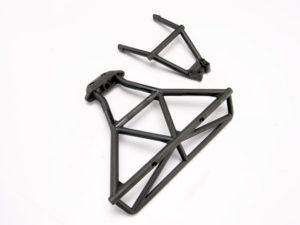 Bumper, rear/ bumper mount, rear (black)