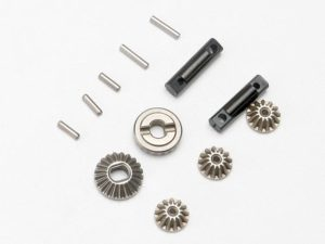 Gear set, differential (output gears (2)/ spider gears (3))/