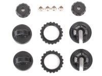 Caps & spring retainers, GTR shock (upper cap (2)/ hollow balls (4)/ bottom cap