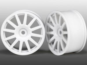 Wheels, 12-Spoke (White) (2) Wheels, 12-Sp