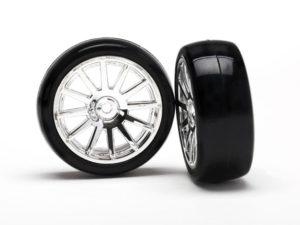 12-Sp Chrm Wheels, Slick Tires Tires & W