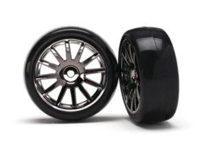 12-Sp Blk Wheels, Slick Tires Tires & Wh