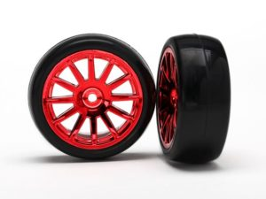 12-Sp Red Wheels, Slick Tires Tires & Wh