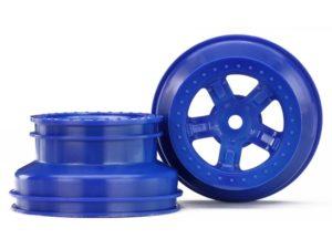 Wheels, SCT blue, beadlock stye, dual profile (1.8' inner, 1