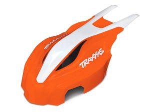 Canopy, front, orange/white,  Aton