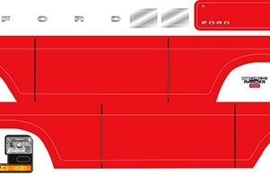 Decal sheet, Bronco, red
