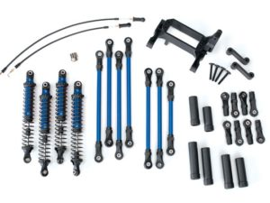 Long Arm Lift Kit, TRX-4, complete (includes blue powder coated links, blue-anod