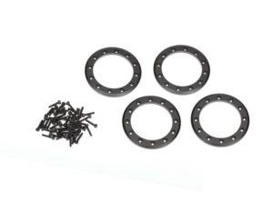 Beadlock rings, black (1.9') (aluminum) (4)/ 2x10 CS (48)