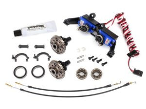 Differential, locking, front and rear (assembled) (includes T-Lock cables and se