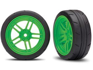 Tires and wheels, assembled, glued (split-spoke green VXL