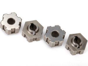 Wheel hubs, hex, steel (4)