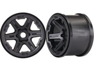 Wheels, 3.8' (black) (2) (17mm splined)