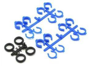 Quick adjust spring clips for associated & HPI shocks - blue