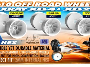 2WD FRONT WHEEL AERODISK WITH  12MM HEX - WHITE (2)