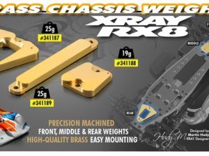 BRASS CHASSIS WEIGHT MIDDLE