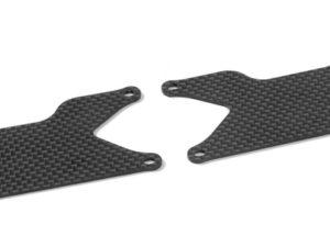 XB9 GRAPHITE REAR LOWER ARM PLATE 1.6 MM (2)