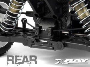 XB808 Alu Rear Lower Susp. Holders Set- Square Adj. Roll-Cen