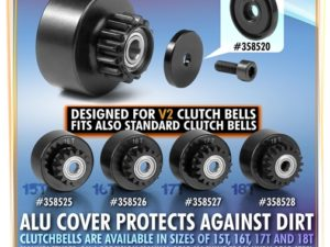 ALU LABYRINTH DUST COVER FOR CLUTCH BELL