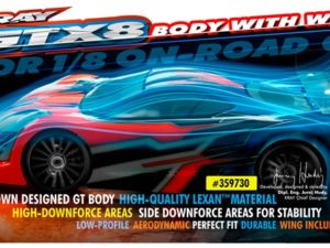 XRAY GT 1/8 ON-ROAD BODY