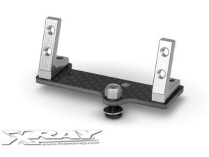 Center Graphite Servo Mount + Alu Stands - Set (Mid-Size)