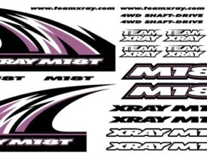 Xray M18T Sticker For Body White