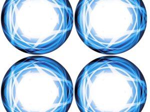 Xray XT8 Wheel Stickers Die-Cut Blue