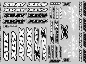 XRAY XB9 STICKER FOR BODY - WHITE