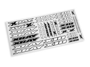 XRAY X10 STICKER FOR BODY - WHITE
