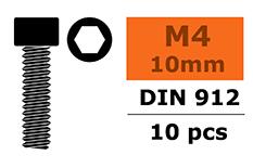 G-Force RC - Cilinderkopschroef - Binnenzeskant - M4X10 - Staal - 10 st
