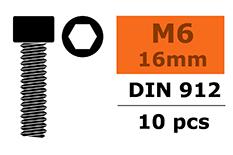 G-Force RC - Cilinderkopschroef - Binnenzeskant - M6X16 - Staal - 10 st
