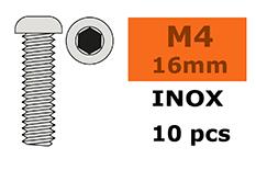 G-Force RC - Laagbolkopschroef - Binnenzeskant - M4X16 - Inox - 10 st