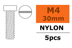 G-Force RC - Cilinderkopschroef - M4X30 - Nylon - 5 st