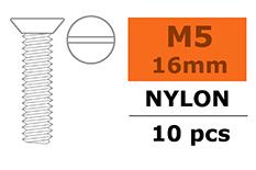 G-Force RC - Verzonkenkopschroef - M5X16 - Nylon - 5 st