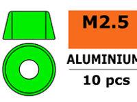 G-Force RC - Aluminium sluitring - voor M2.5 Cilinderkopschroeven - BD=7mm - Groen - 10 st