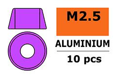 G-Force RC - Aluminium sluitring - voor M2.5 Cilinderkopschroeven - BD=7mm - Paars - 10 st