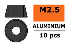 G-Force RC - Aluminium sluitring - voor M2.5 Cilinderkopschroeven - BD=7mm - Gun Metaal - 10 st