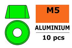 G-Force RC - Aluminium sluitring - voor M5 Cilinderkopschroeven - BD=12mm - Groen - 10 st