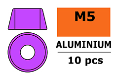 G-Force RC - Aluminium sluitring - voor M5 Cilinderkopschroeven - BD=12mm - Paars - 10 st