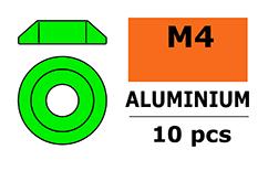 G-Force RC - Aluminium sluitring - voor M4 Laagbolkopschroeven - BD=12mm - Groen - 10 st