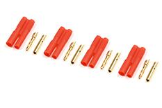 G-Force RC - Connector - 2.0mm - Goudcontacten met plastiek behuizing - 4 st