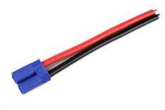 G-Force RC - Connector met kabel - EC-5 - Goud contacten - Vrouw. connector - 10AWG Siliconen-kabel - 12cm - 1 st