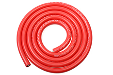 G-Force RC - Siliconen-kabel - Powerflex PRO+ - Rood - 8AWG - 4197/0.05 Strengen - OD 6.5mm - 1m