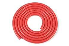 G-Force RC - Siliconen-kabel - Powerflex PRO+ - Rood - 12AWG - 1731/0.05 Strengen - OD 4.5mm - 1m