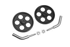 G-Force RC - Wielassen - gebogen - voor 2mm carbon staven - incl. wielen - 2 st